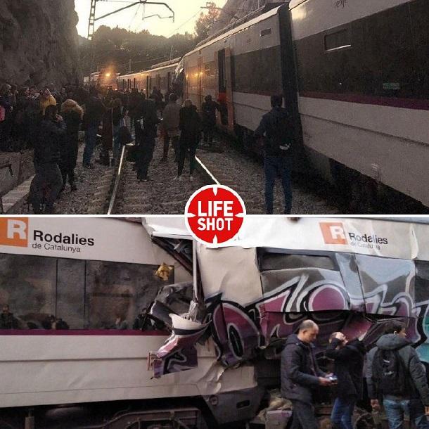 ВИспании уточнили данные опострадавших при столкновении 2-х поездов