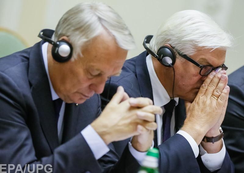 Германия и Франция хотят урегулировать конфликт на Донбассе по сценарию Кремля