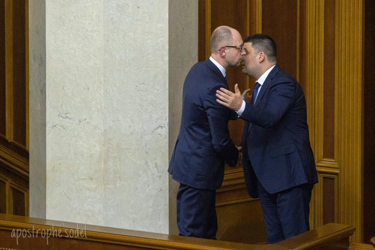 """Как стало известно """"Апострофу"""", на выходных состоялся """"прорыв"""" в переговорах по поводу отставки Яценюка"""