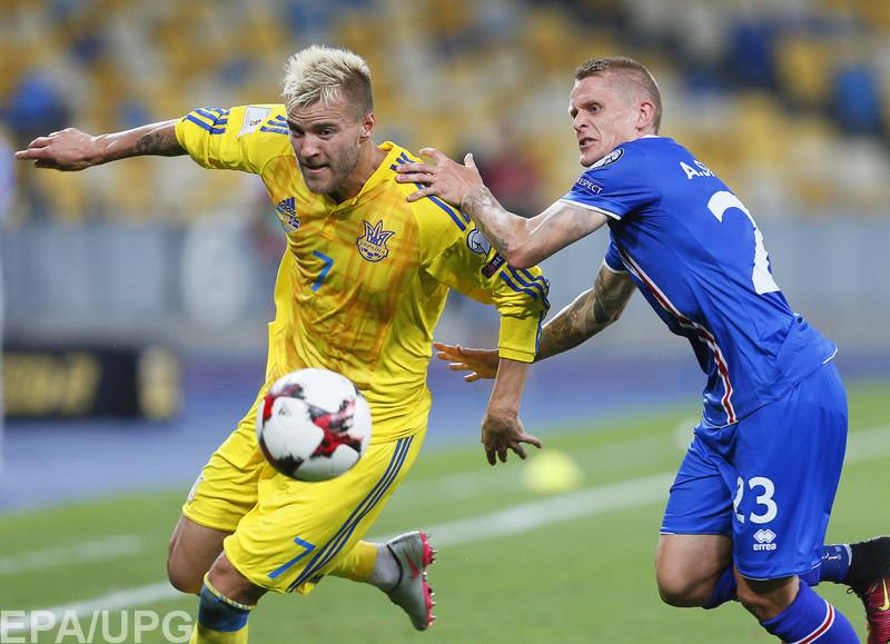 Андрей Шевченко дебютировал на посту главного тренера сборной Украины на старте мундиаля-2018 ничьей с Исландией