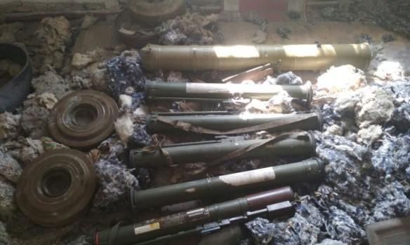 ВАТО таможенники отыскали арсенал оружия русского производства