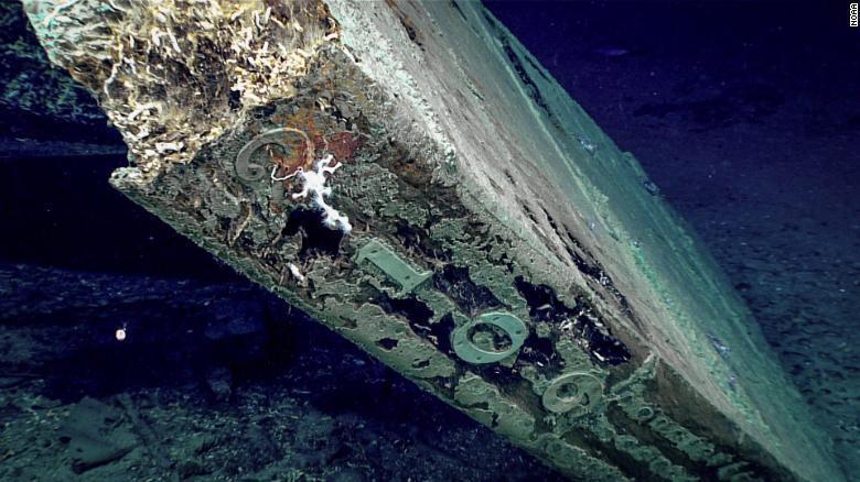 На дне Мексиканского залива найден таинственный корабль с надписью 2109