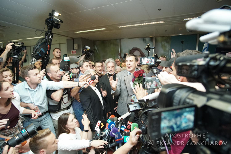 Экс-президент Грузии Михеил Саакашвили вернулся в Украину